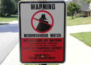 loganville police neighborhood watch sign